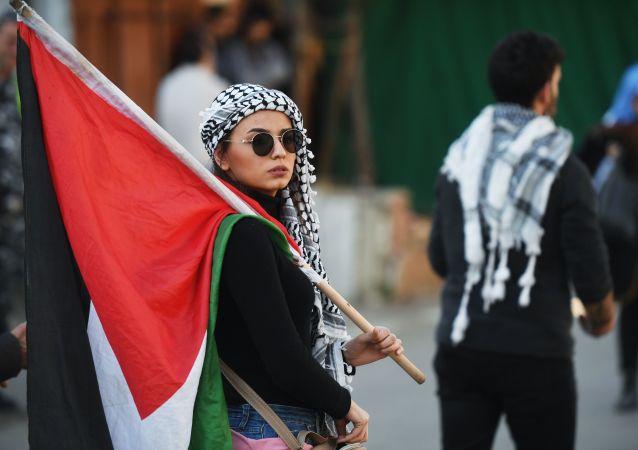 Action de protestation contre l'accord du siècle à Beyrouth