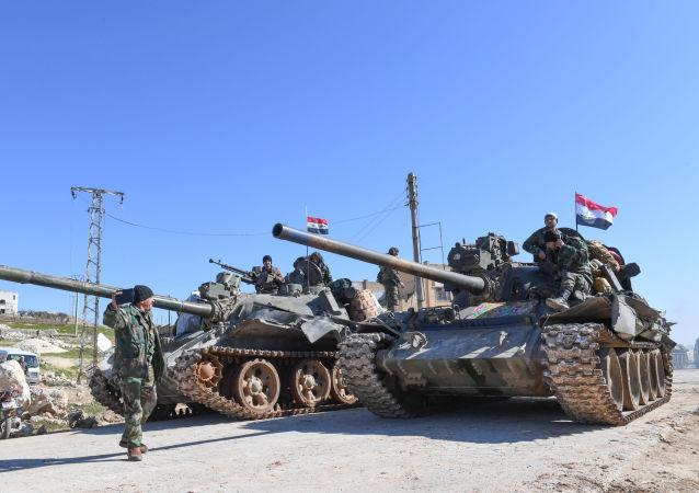 Des chars de l'armée syrienne dans le gouvernorat d'Alep (archive photo)