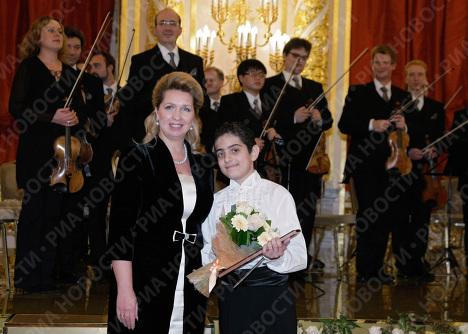 С. Медведева на концерте фестиваля Восходящие звезды в Кремле