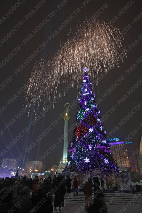 Открытие главной новогодней елки Украины