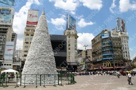 Новогодняя елка в Буэнос-Айресе