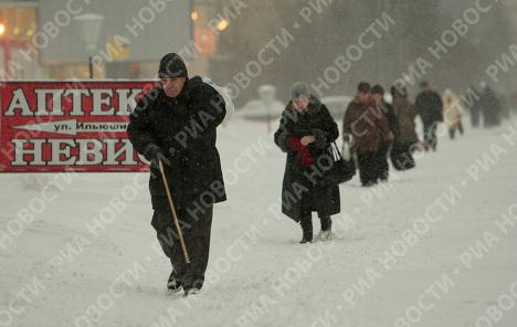 Сильный снегопад в Санкт-Петербурге