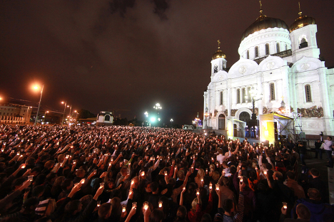 """""""Candle of Memory"""" rally in Moscow"""