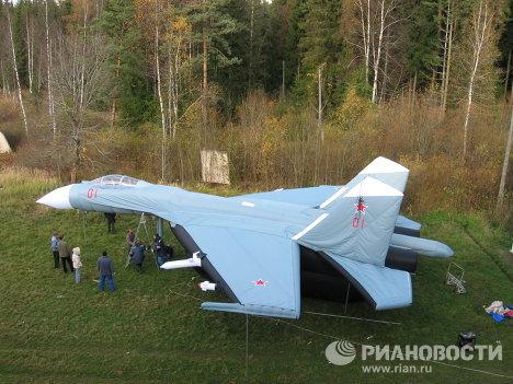 Armée russe: chars, avions et missiles gonflables