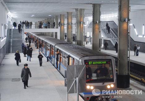 Открытие новой станции московского метро - Мякинино