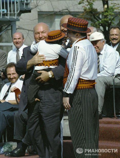 Юрий Лужков на празднике Дня города