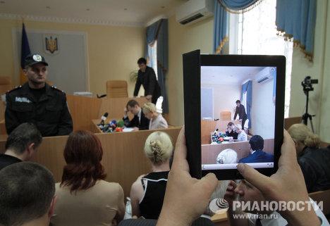 Procès de l'ex-première ministre ukrainienne Ioulia Timochenko: scènes d'audience