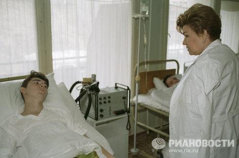 Ельцина в госпитале пограничых войск