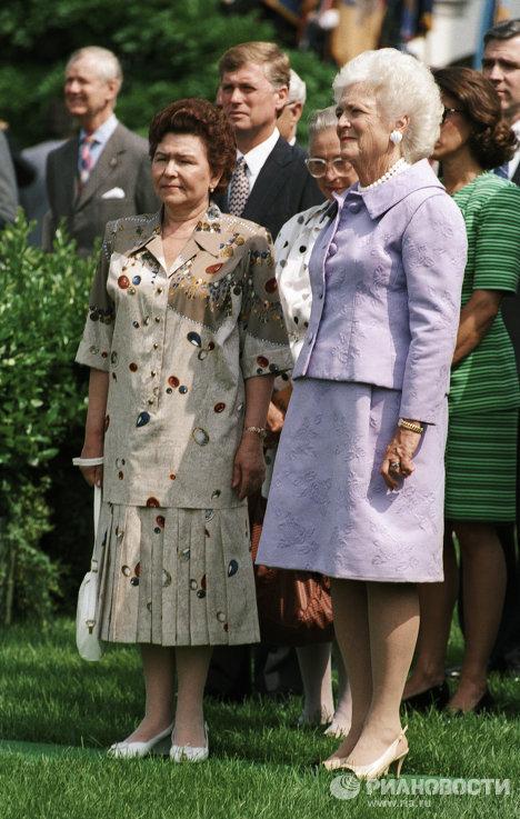 Наина Ельцина и Барбара Буш