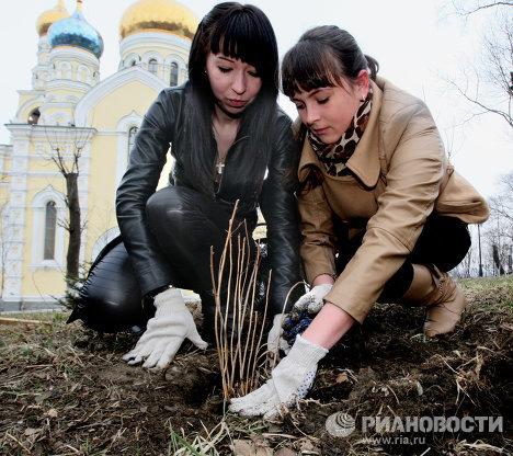 Субботники в городах России