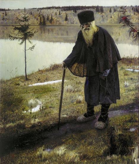 Картина Михаила Нестерова «Пустынник»