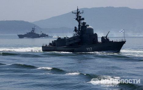 Репетиция военно-морского парада во Владивостоке