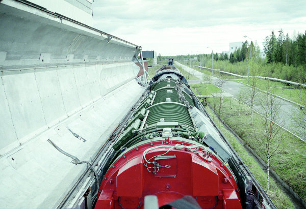 Le missile sur rail soviétique RT-23 Molodets