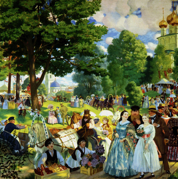 Картина Б.Кустодиева Троицын день