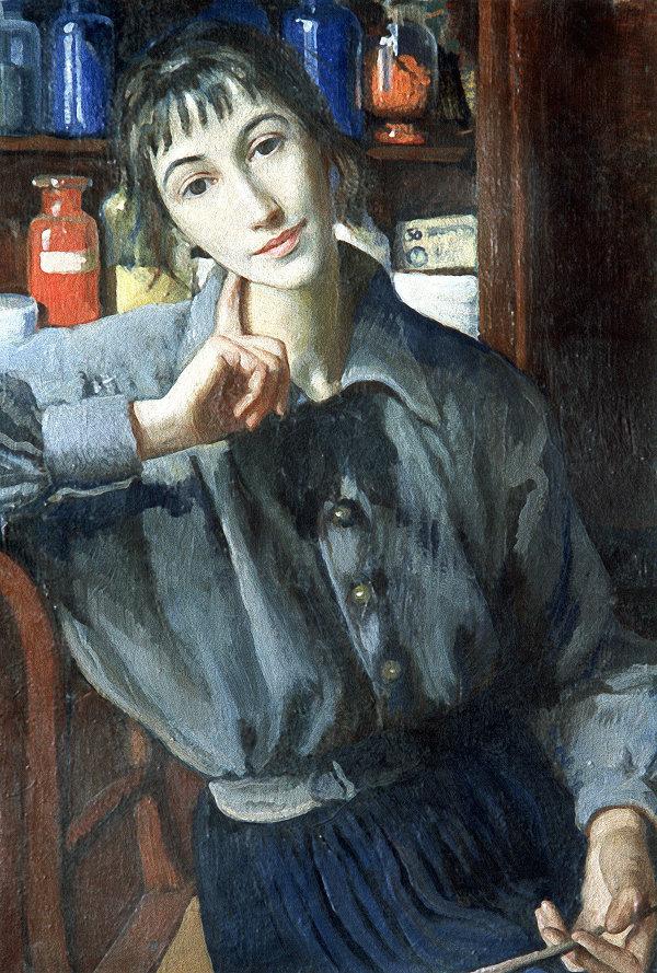 Картина З.Е. Серебряковой Автопортрет с кистью
