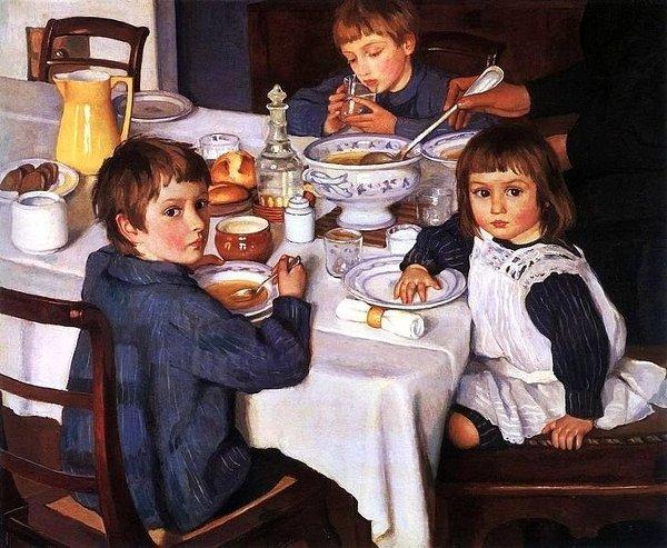 З.Серебрякова «За завтраком» (1914)