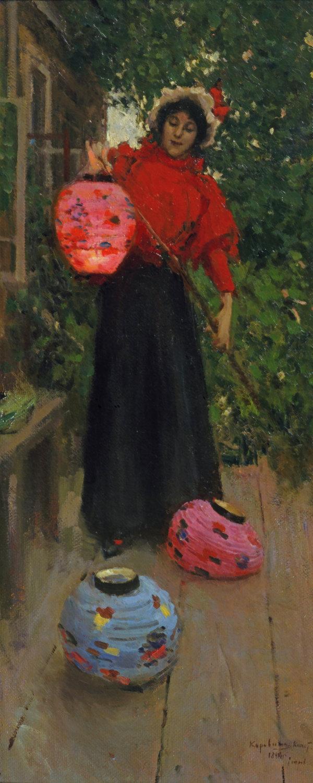 Репродукция картины К. Коровина Бумажные фонарики