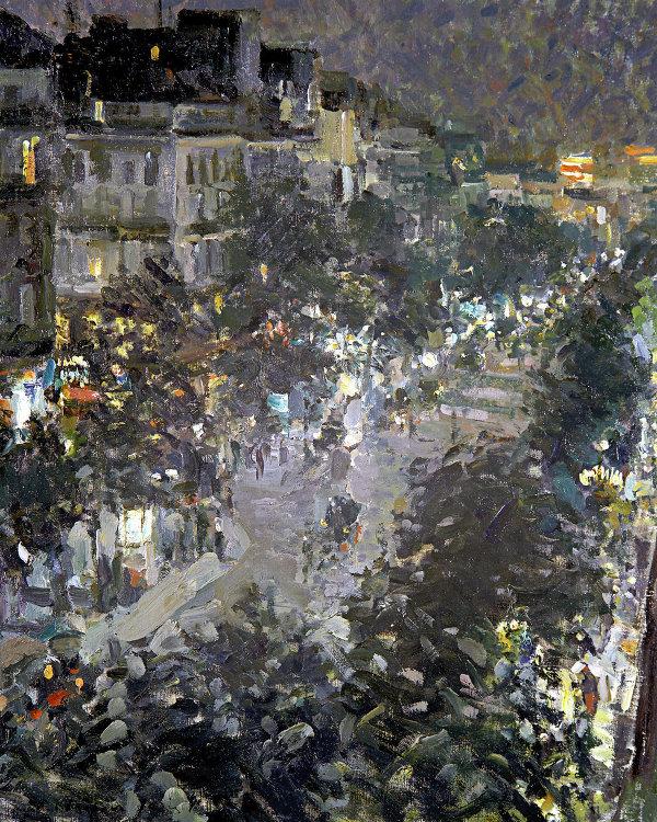 Картина К.Коровина Улица в Виши. Вечер