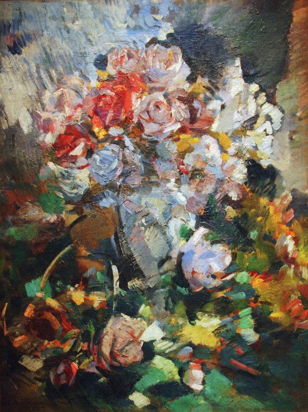 Картина художника Константина Коровина Натюрморт с цветами