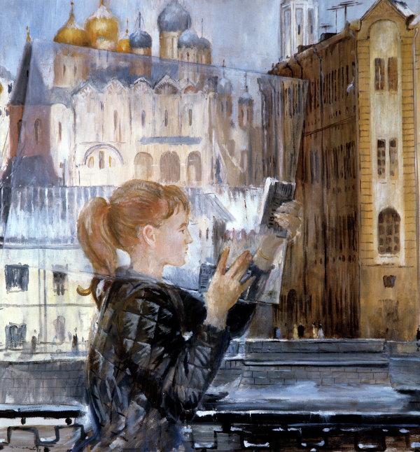 Репродукция картины Ю. Пименова Кусок стекла
