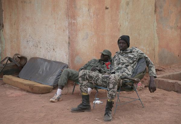 Les soldats des troupes gouvernementales du Mali