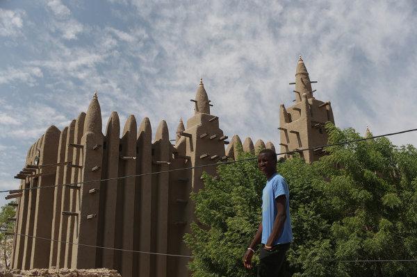 Une mosquée de la ville de Mopti, au Mali