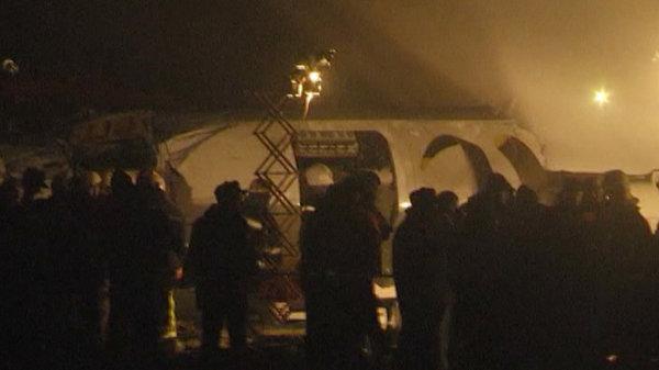 Крушение самолета Ан-24 под Донецком