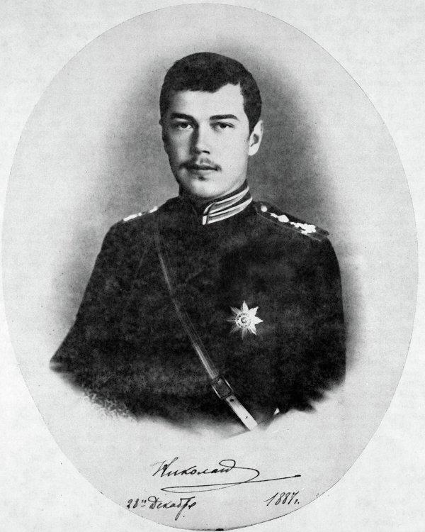 Великий князь Николай Александрович в армейском пехотном мундире