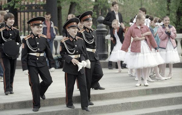 Суворовцы на Манежной площади