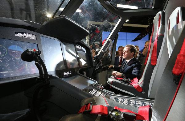 Д.Медведев на Международном авиационно-космическом салоне