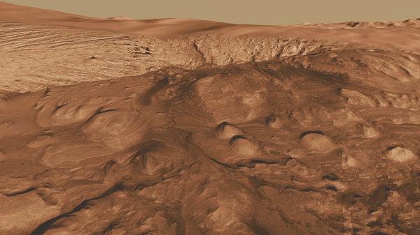 Кратер Гейла на Марсе