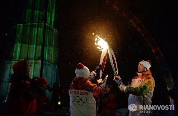 Эстафета Олимпийского огня. Салехард