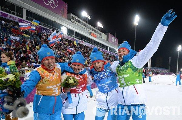 Олимпиада 2014. Биатлон. Женщины. Эстафета