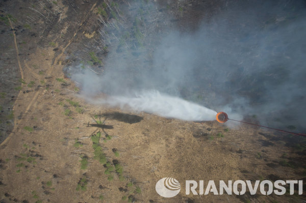 Тушение лесных пожаров на Дальнем Востоке