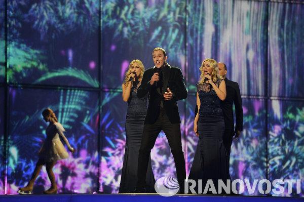 Представитель Черногории певец Сергей Четкович выступает в полуфинале 59-го международного конкурса песни Евровидение-2014 в Копенгагене
