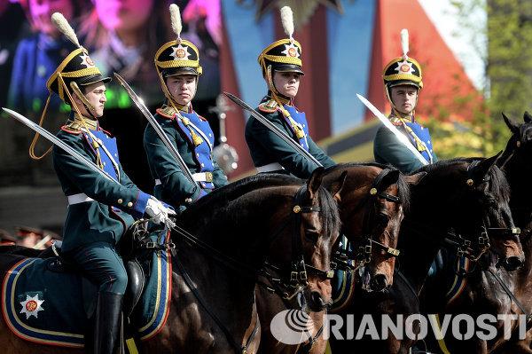 Генеральная репетиция Парада Победы