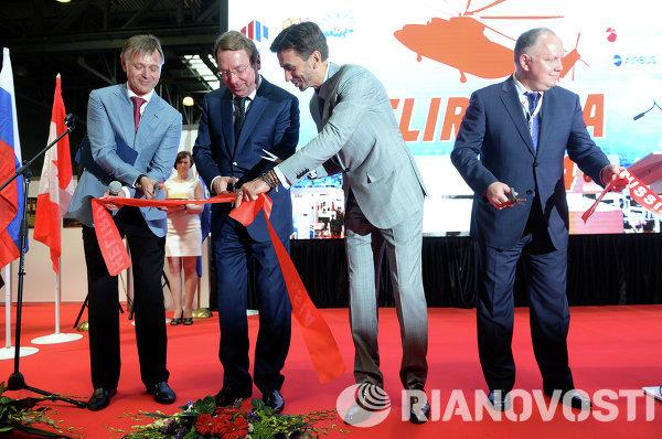 Церемония открытия VII Международной выставки вертолетной индустрии HeliRussia 2014