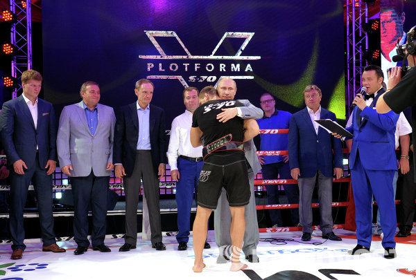 В. Путин посетил турнир по боевому самбо ПЛОТФОРМА S-70 в Сочи